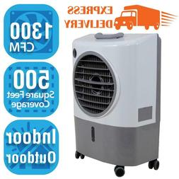 1,300 Cfm 2-Speed Portable Evaporative Cooler  For 500 Sq. F