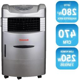 470 CFM 4 Speed Indoor Portable Evaporative Cooler Remote Co
