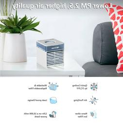 7 Colors LED Mini Air Conditioner Cooler Portable USB Evapor