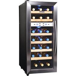 Newair - 21-bottle Wine Cooler - Black/stainless Steel
