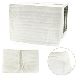 Beige Quilted Air Conditioner Indoor Cover Protection Preven