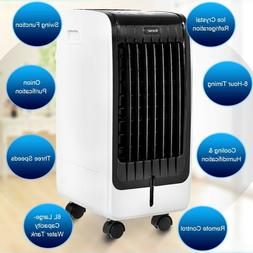 evaporative air cooler with fan and humidifier