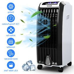 Evaporative Portable Air Cooler Fan Anion Humidify W/ Remote