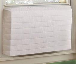 Indoor AC Cover L large White Quilted Keep Cold Air Out Air