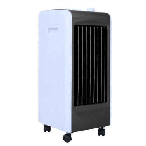 4L Evaporative Air Fan Room Humidifier Air Conditioner W/Wheels