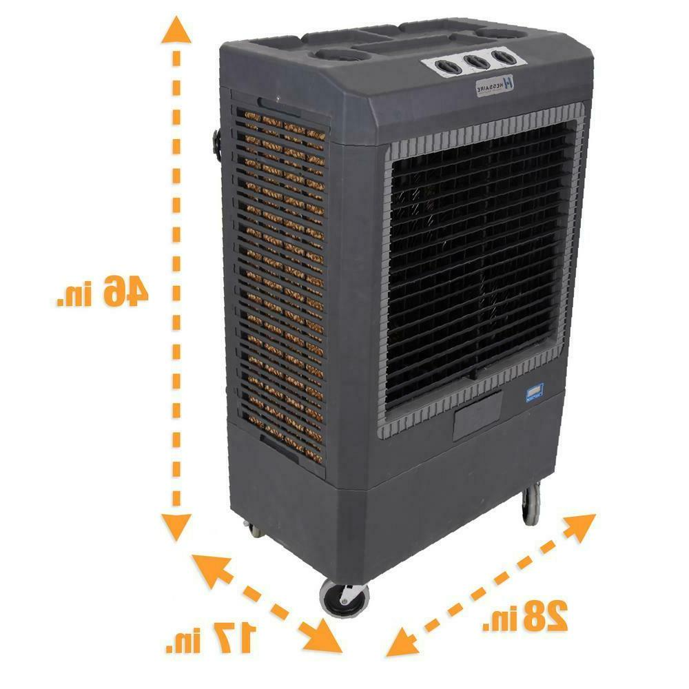 Hessaire 5,300 3-Speed Portable Evaporative Cooler 1,600