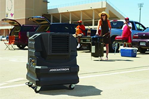 PortacoolPACCYC02 2000 Portable Evaporative Cooler with Square Foot Cooling Capacity, Black