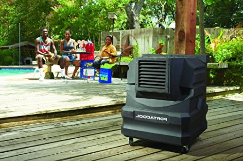 PortacoolPACCYC02 Evaporative Cooler with 500 Square Foot Capacity, Black