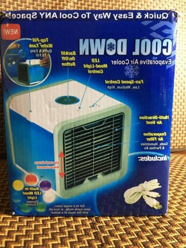 COOL Down Evaporative Air Cooler Desktop Color Changing Air