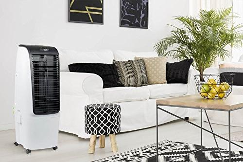 NewAir Portable Air Swamp Tower Fan, 600 CFM, 650 Square Foot Cooling, White