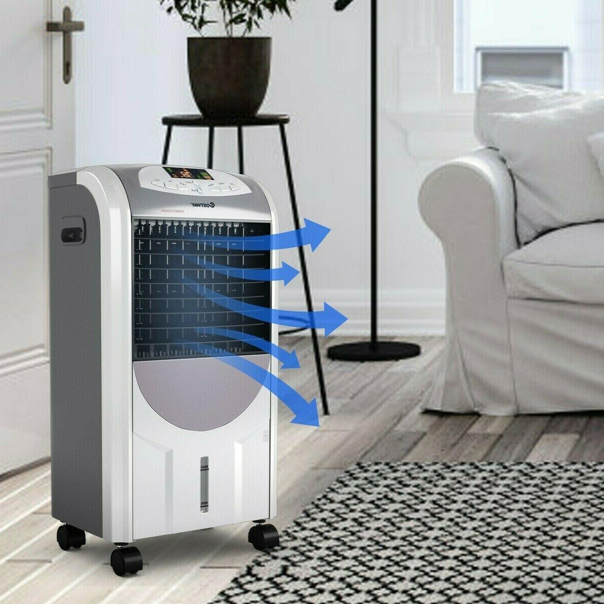 5in1 Portable Air Conditioner Cooler Humidifier w/ Remote