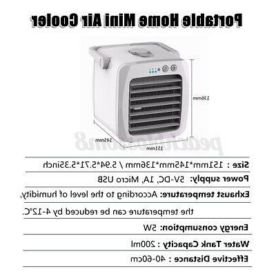 Evaporative Portable Air Cooler Fan Humidifier USB Cooling