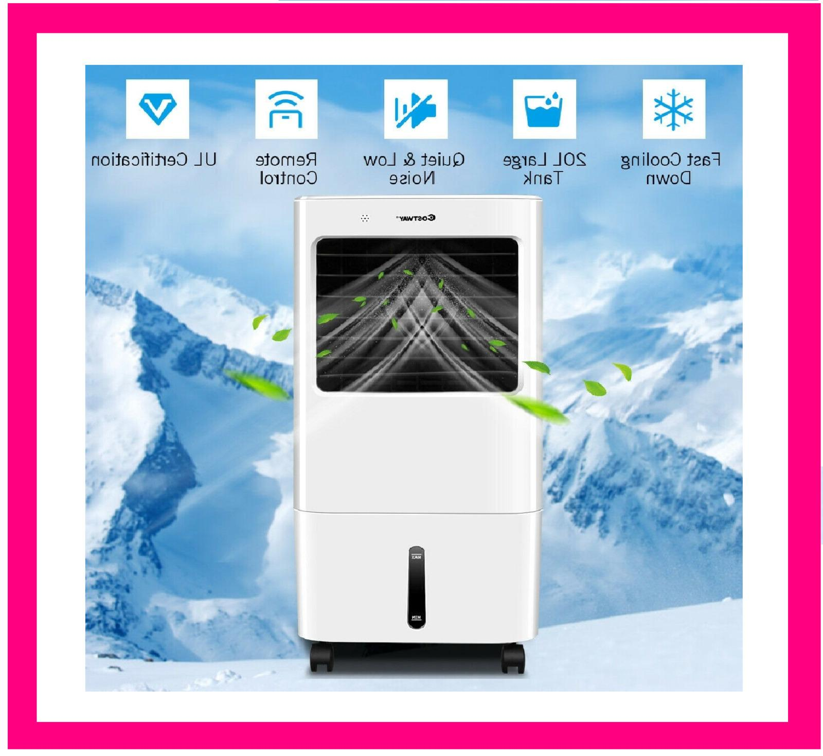 evaporative portable air cooler fan cooling humidifier