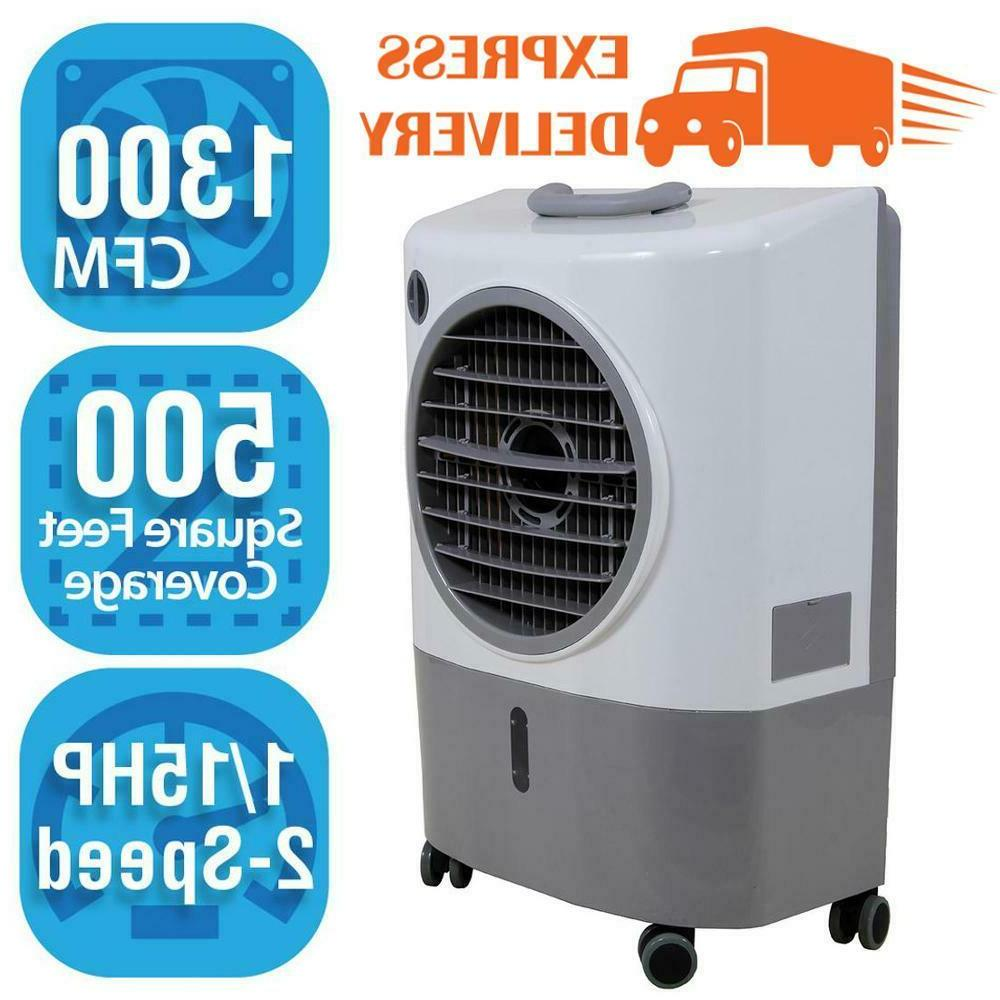 evaporative swamp cooler portable 1 300 cfm