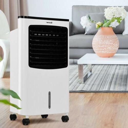 home portable evaporative air cooler humidifier fan