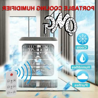 HOT!Portable Fan Indoor Cooling Humidifier+Remote Control