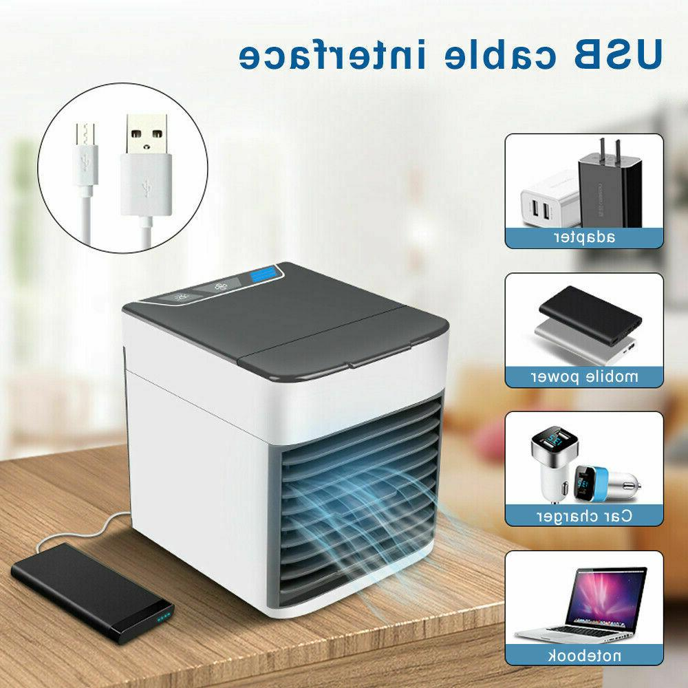 Mini Air Conditioner Portable Home Colors LED USB Personal Space