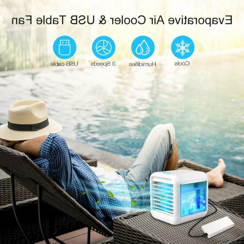 Personal Air Cooler, Evaporative With Waterbox, Portable Led