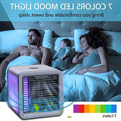 CAYNEL Conditioner, 4 1 Mini USB Air Cooler, Purifier, 3 Colors for Office