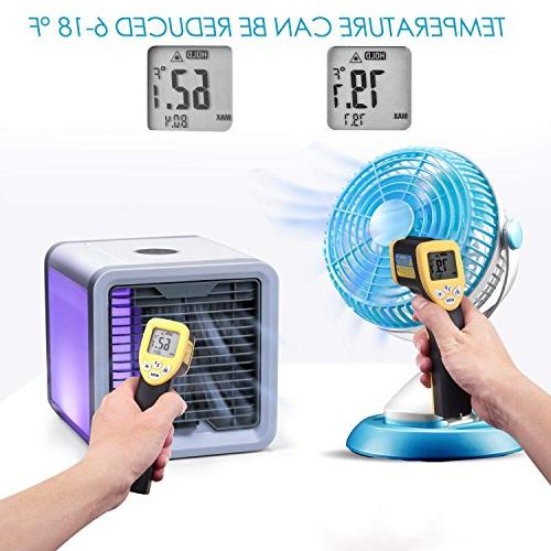 CAYNEL Personal Space Conditioner, 4 Mini USB Personal Space Air Desktop Fan 3 Colors for Office