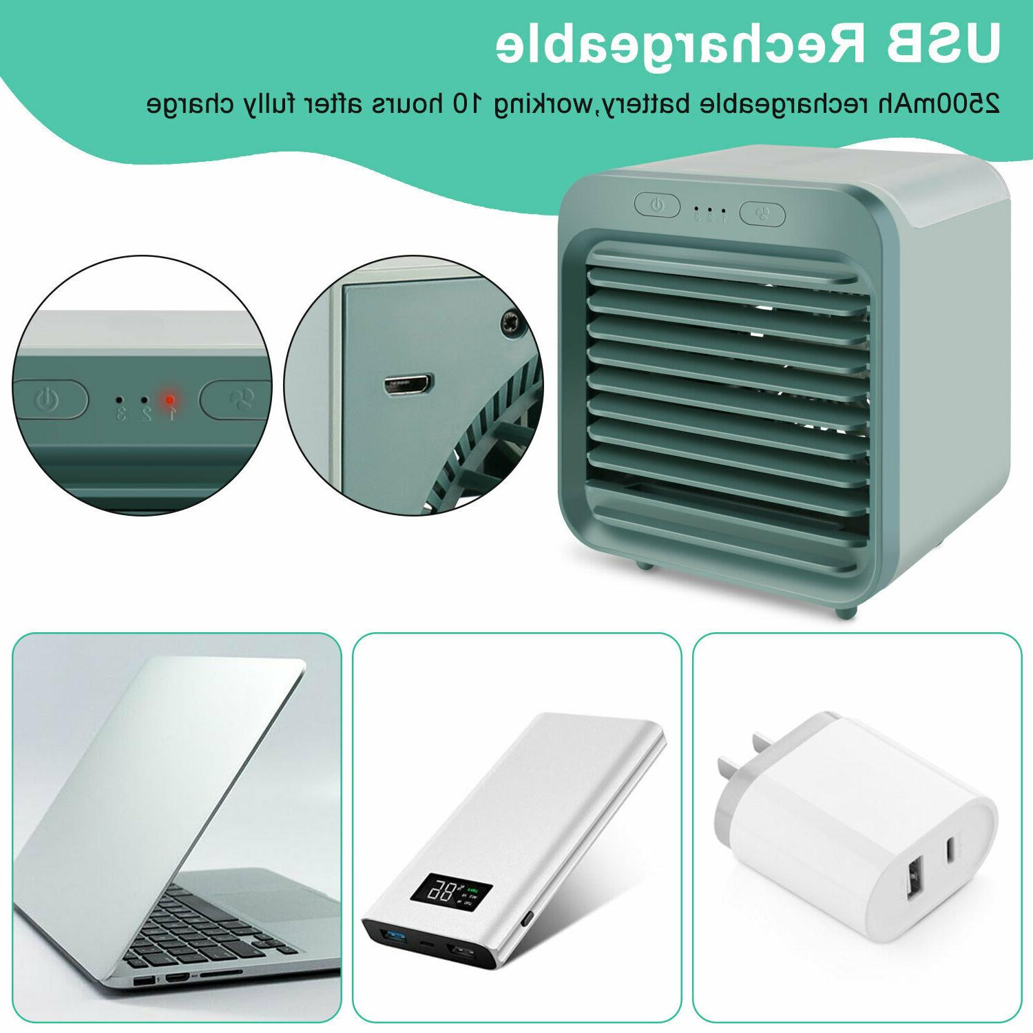 Portable Air Conditioner Fan Humidifier Air Cooling Fan