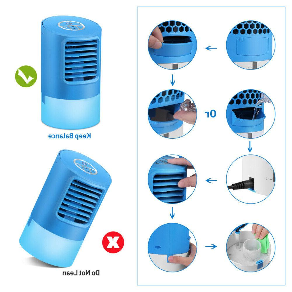 Portable Air Conditioner Fan Humidifier Cooling Cool Fans