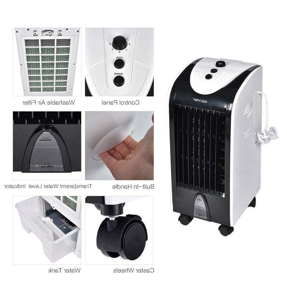 Portable Cooler Mini Conditioner Humidifier 3 Speed Cooling