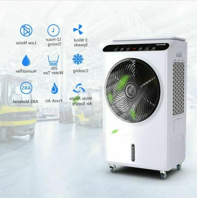 Portable Evaporative Remote Control Touch Pad Air Cooler Humidifier