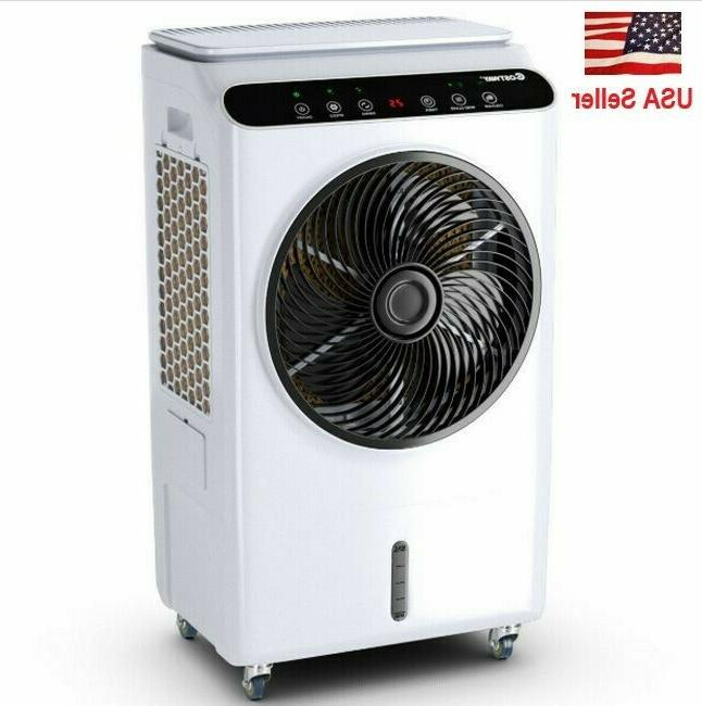 portable evaporative cooler remote control and touch