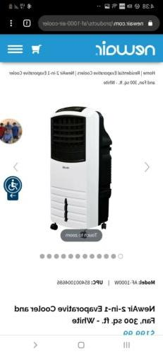 portable evaporative swamp cooler and air fan