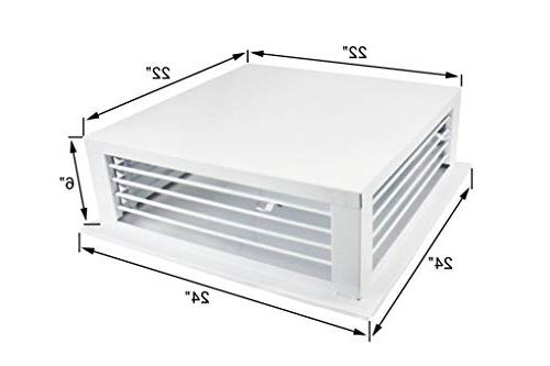 White 4-Way Adjustable Diffuser for Evaporative/Swamp Cooler