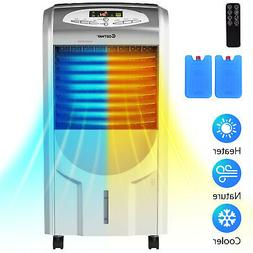 Portable Air Cooler Fan & Heater Humidifier with Washable Fi