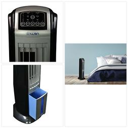 portable evaporative air cooler with fan