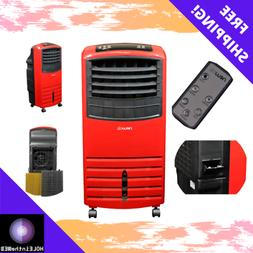 Portable Rolling Evaporative Swamp Red Air Cooler Cooling Fa