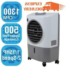 Portable Swamp Cooler Evaporative Hessaire 1,300 CFM 2-Speed