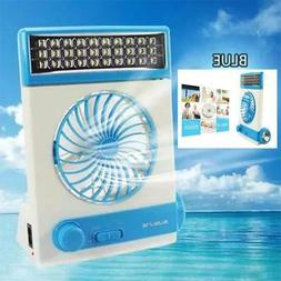RECHARGEABLE EMERGENCY POWERED FAN LIGHT W SOLAR & AC INTERN